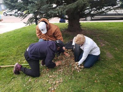 Volunteers helping clean up yards around Great Falls