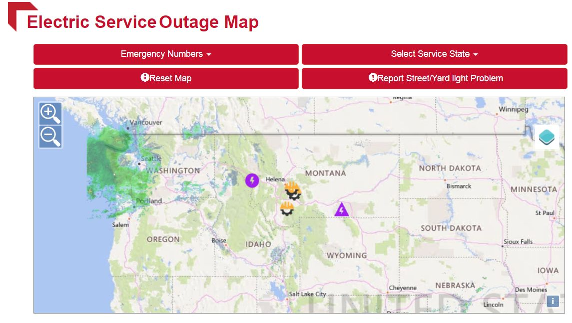 Flathead Electric Power Outage Map.Strong Winds Leave Hundreds Without Power In Western Montana News