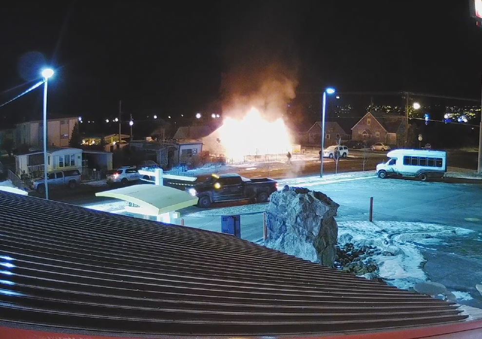 butte house fire security footage