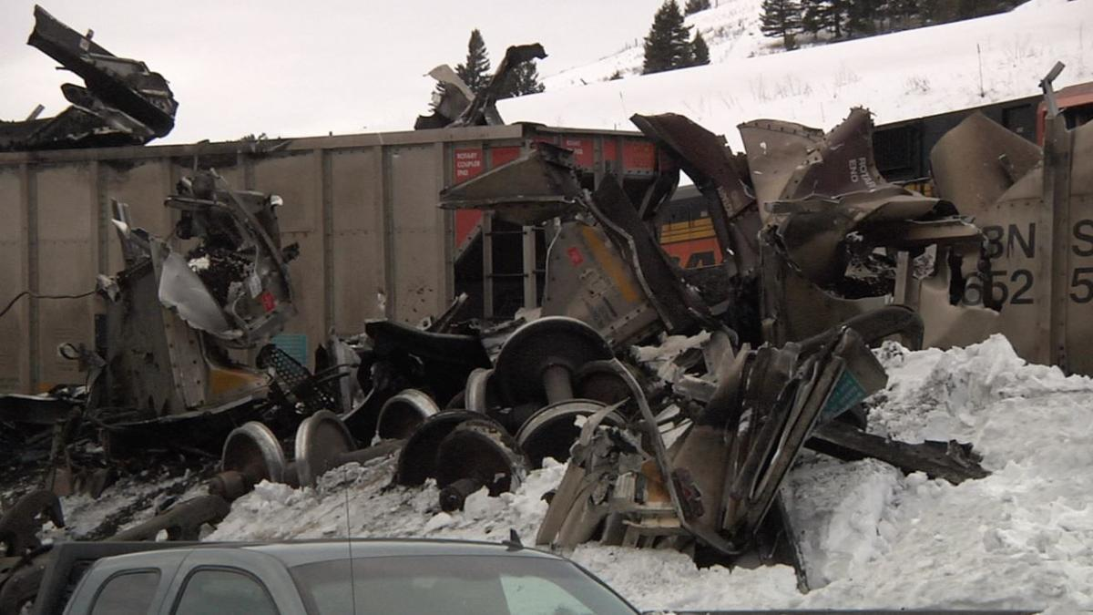 Bozeman train derailment car