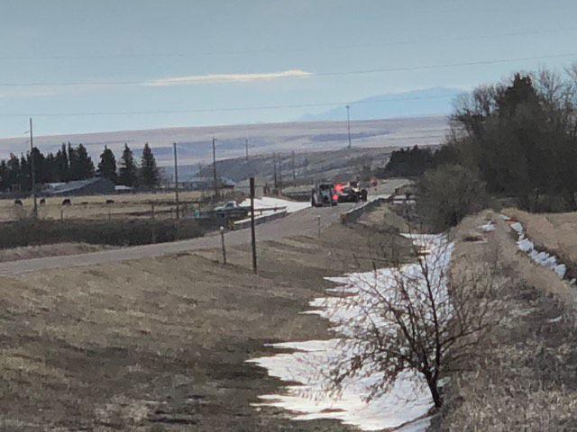 Scene of 2 vehicle crash
