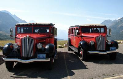 glacier park red buses