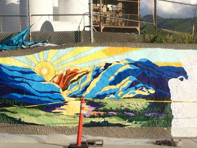 Van Buren's 113 ft. mural paints Montana's deep history
