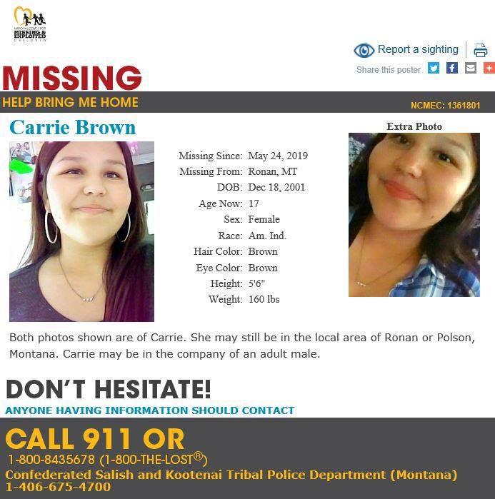 ronan teen missing carrie brown