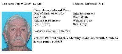 missing person james edward rose