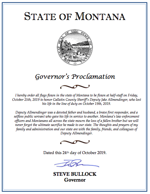 Governor's Proclamation: