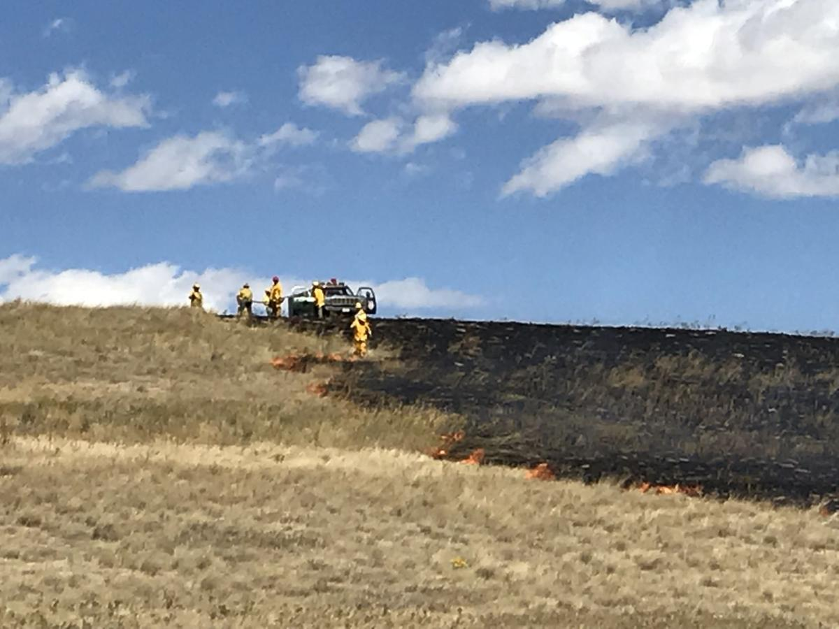 Crews responding to wildfire