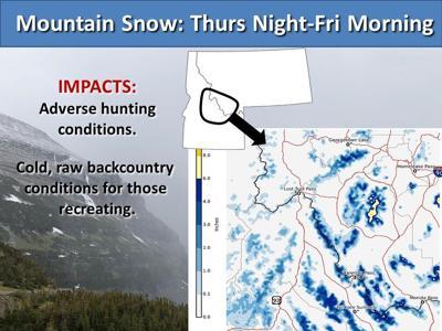 mountain snow predicted