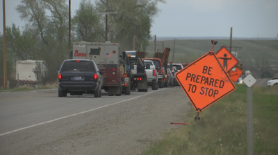 Highway 212 construction causes long travel delays