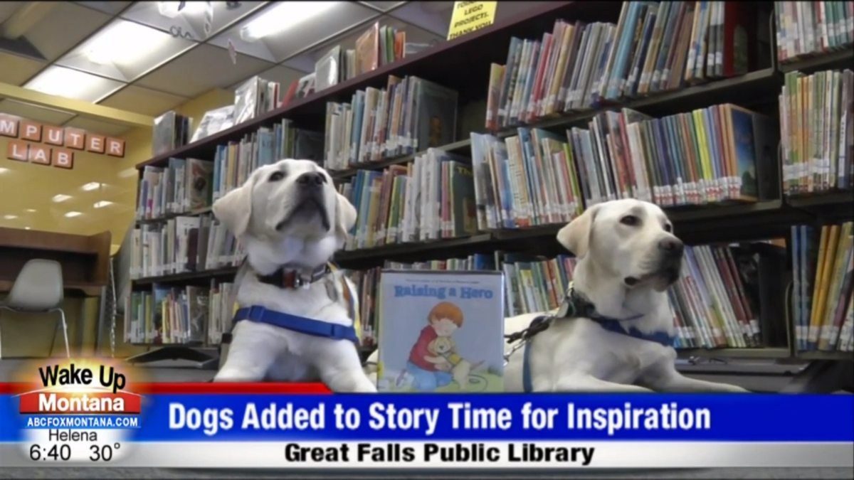 Great Falls Library adds dogs to story time