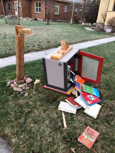 Vandalized Little Free Library