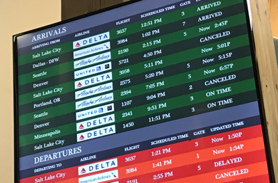 Midwest bomb cyclone stranding airport travelers in Montana