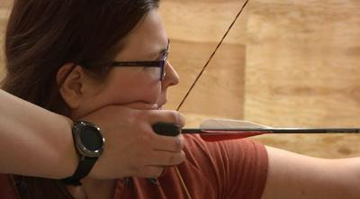 Preparing archery shot
