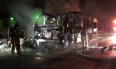 RV Fire in Missoula