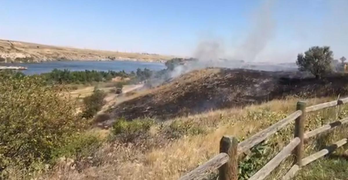 Fire from FB live at Lewis and clark interp center