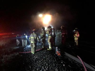 Train collides with car near Frenchtown