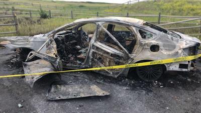 Car burned at Giant Springs State Park