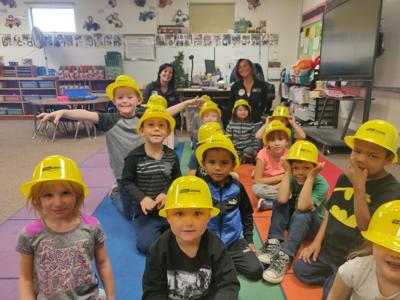 Students enjoying National Construction Week