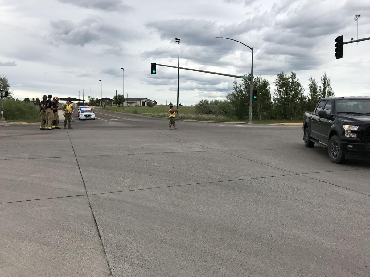 Crash blocking traffic near Malmstrom