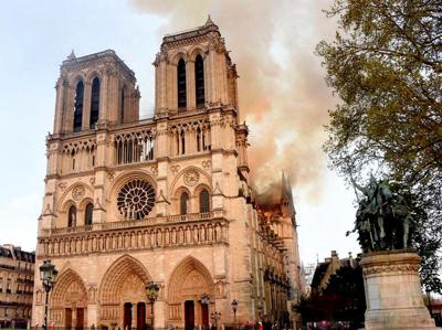 Fire at Notre Dame Cathedral - MGN