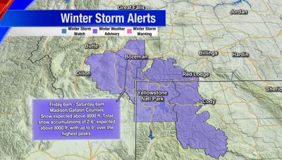 Winter Weather Advisory: Gallatin and Madison counties could be seeing snow