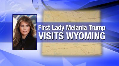 First Lady Melania Trump to be in Yellowstone National Park Friday morning.