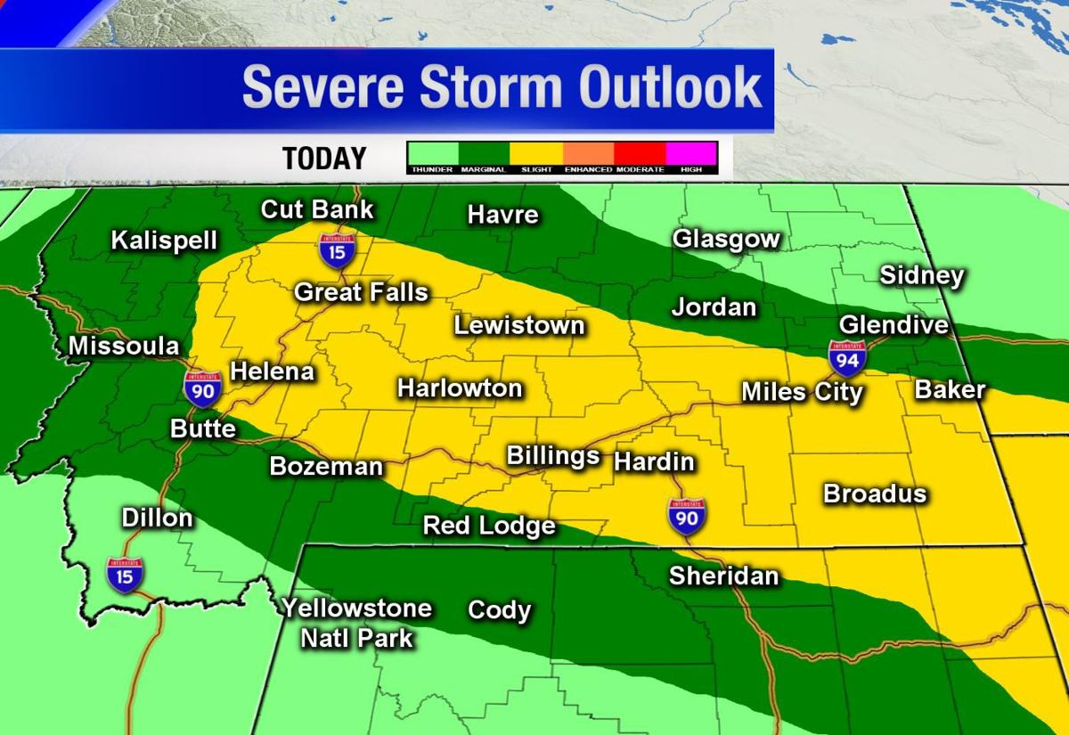 Stormy weather expected to bring hail, strong winds through