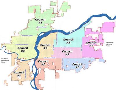 Great Falls Neighborhood Council Map
