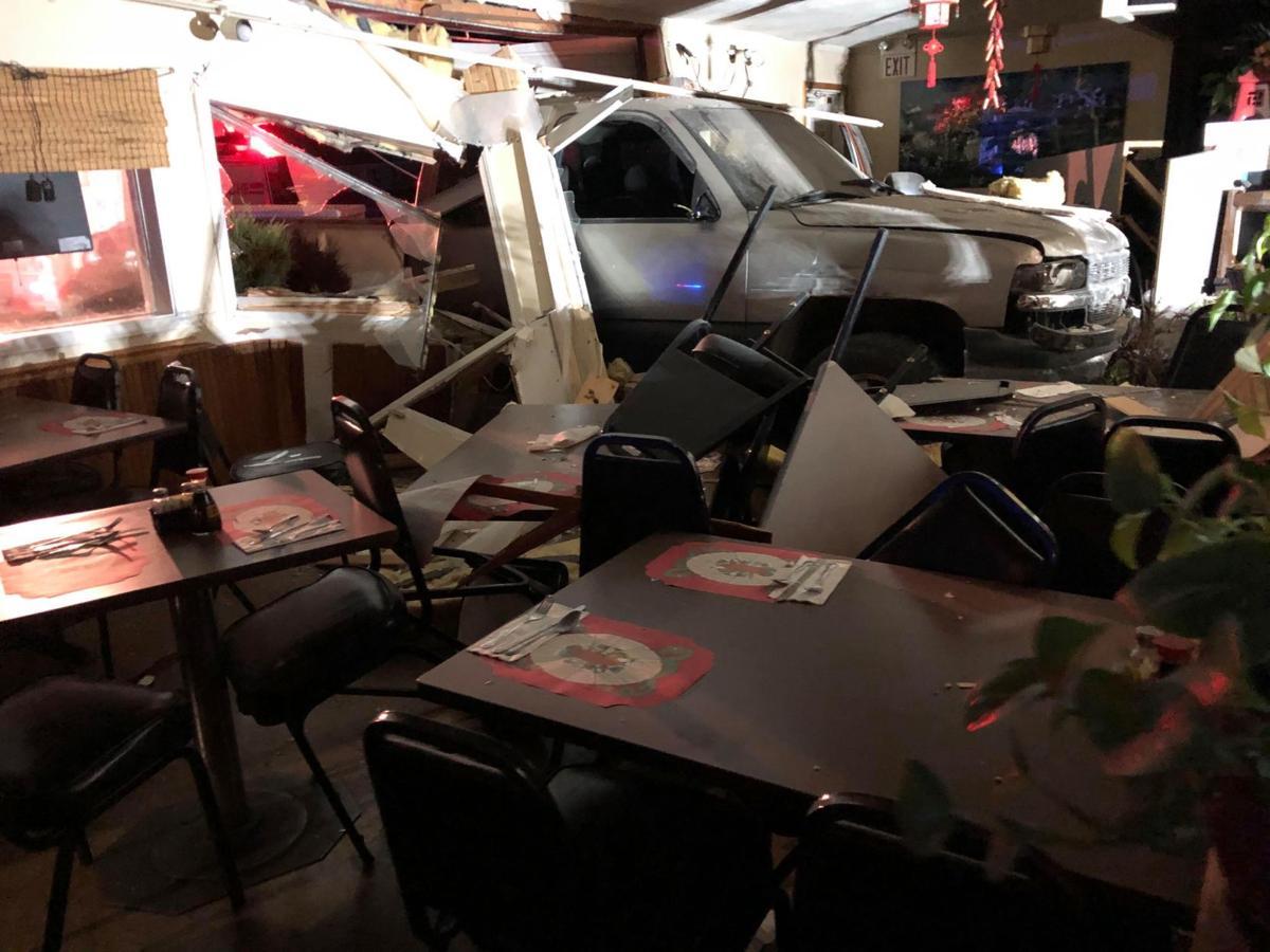 Truck crashes through restaurant wall in Kalispell | ABC Fox