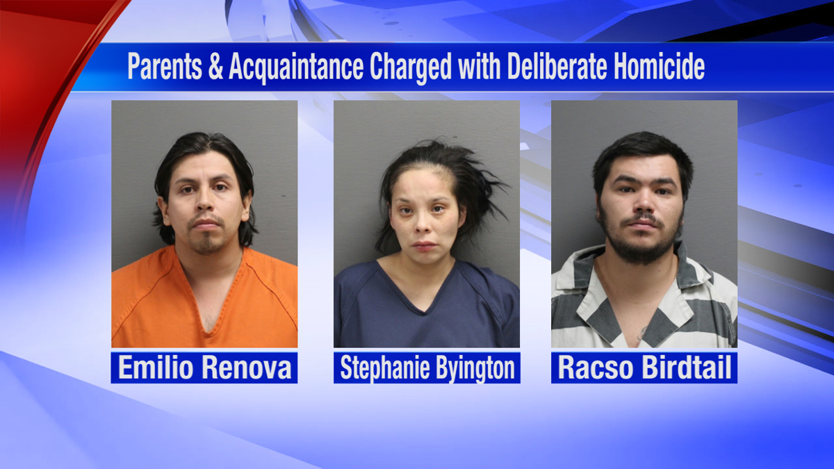 Three people charged with deliberate homicide