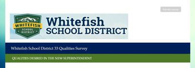 Whitefish School District survey