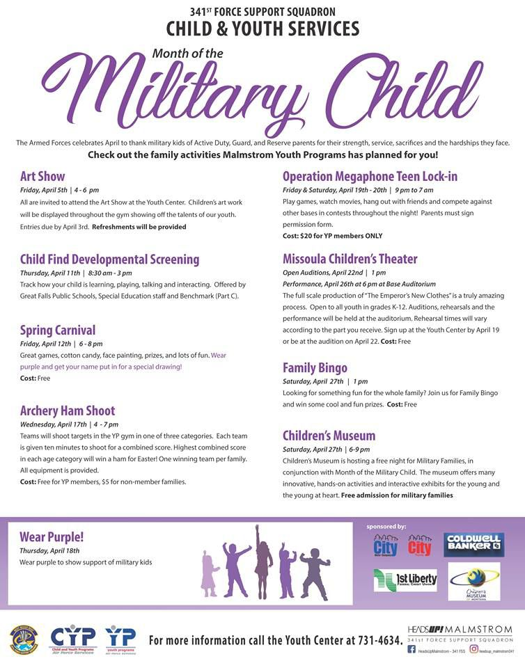 Military Child Appreciation Month across the Treasure State