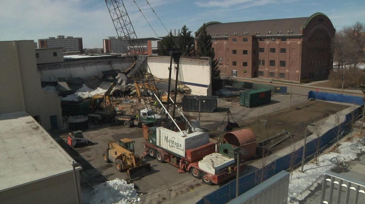 MSU north gym demolition