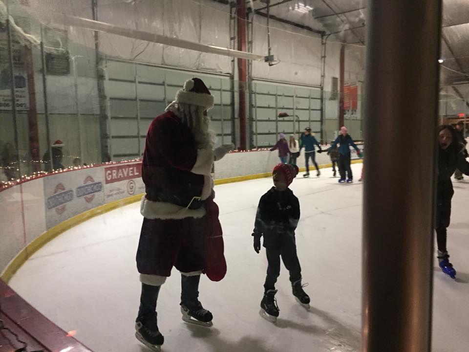 Skate with Santa Friday in Bozeman