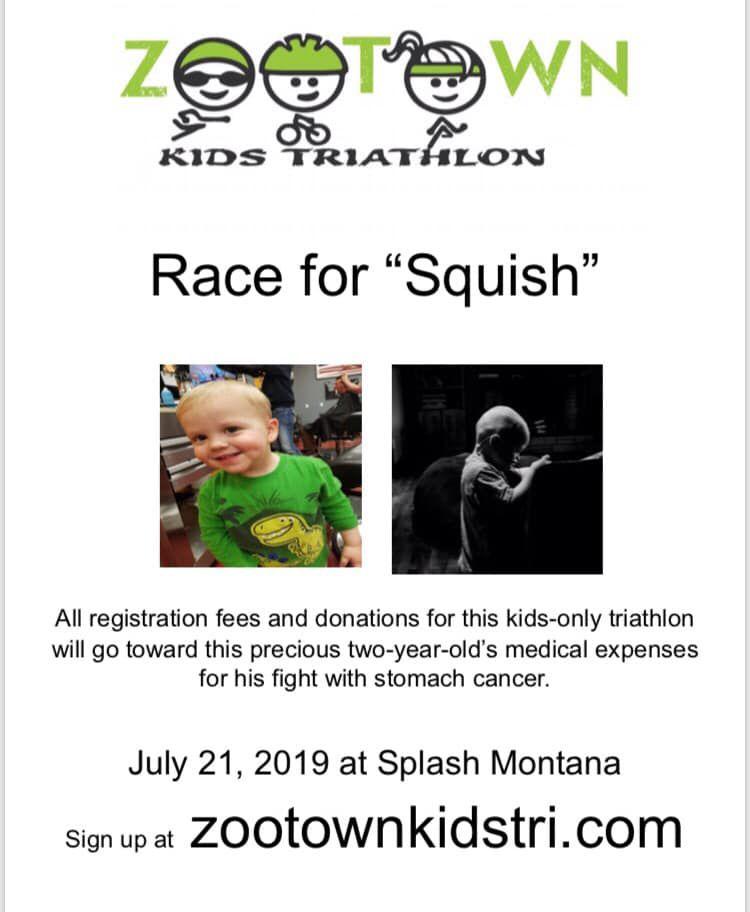 kids triathlon cancer benefit squish