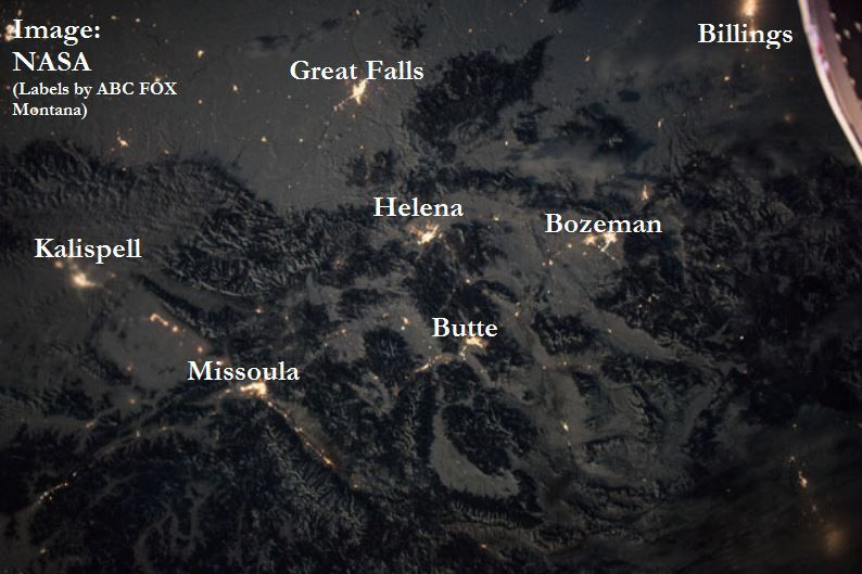 nasa map of montana from space