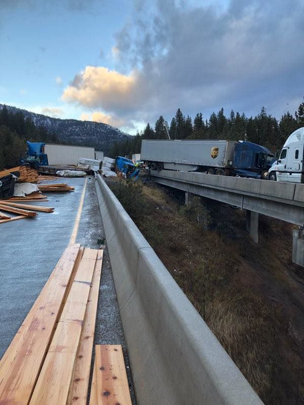 wrecked semis I90 dec 19 frenchtown rural fire