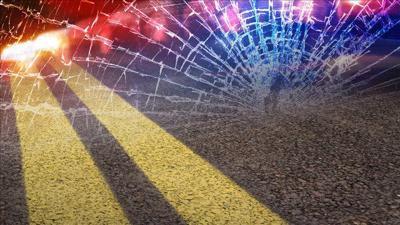 Motorcycle-dump truck crash on Highway 395 near Kettle Falls