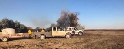 Small fire breaks out near Vinyard Rd.