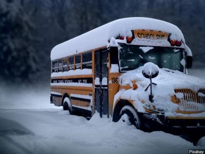 Snowy Bus