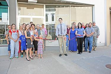 Chiropractor formally opens for business
