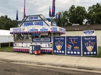 Hot funnel cakes for fair season