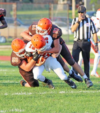 Orange and Brown scrimmage
