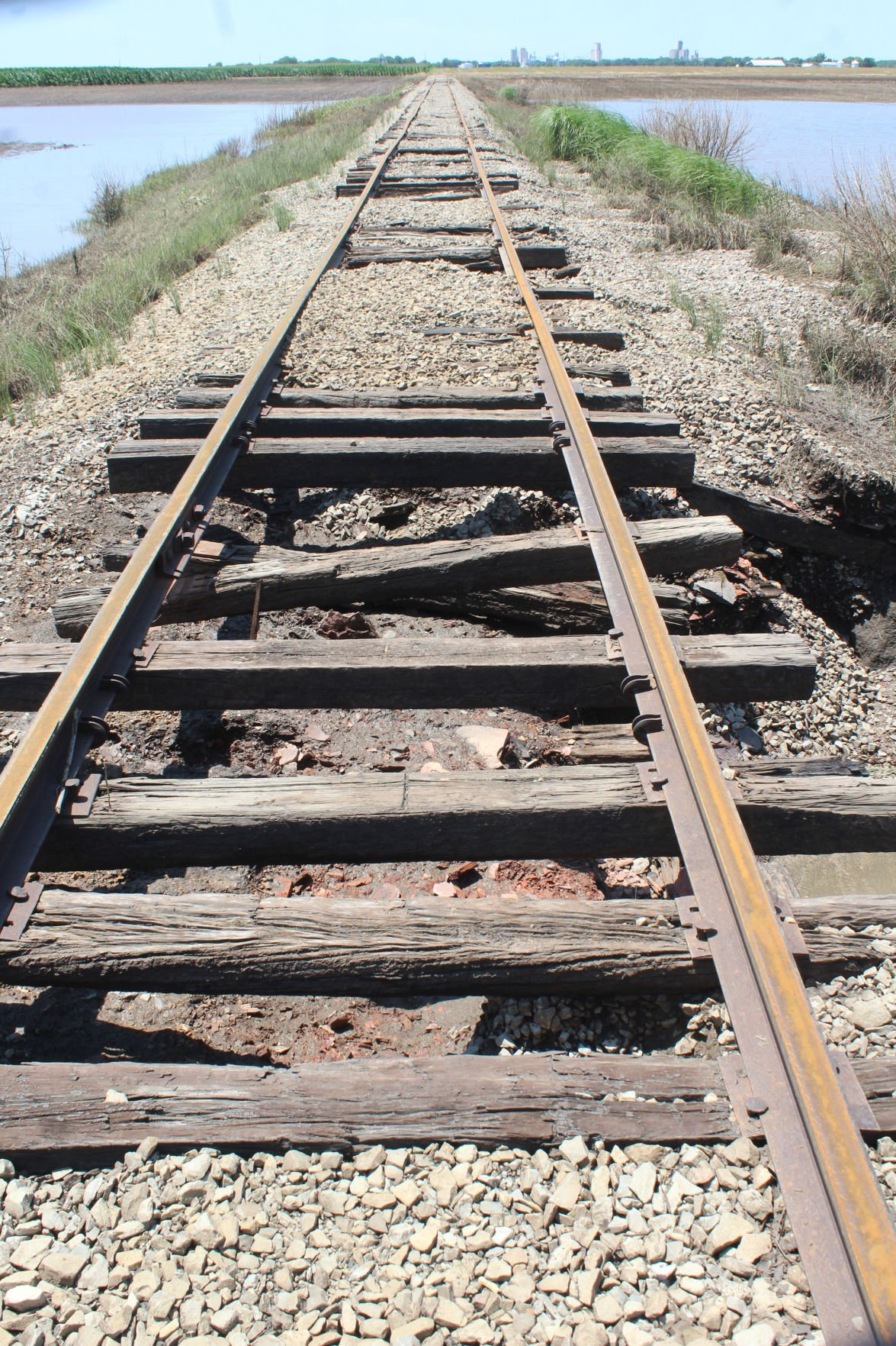 Damaged tracks