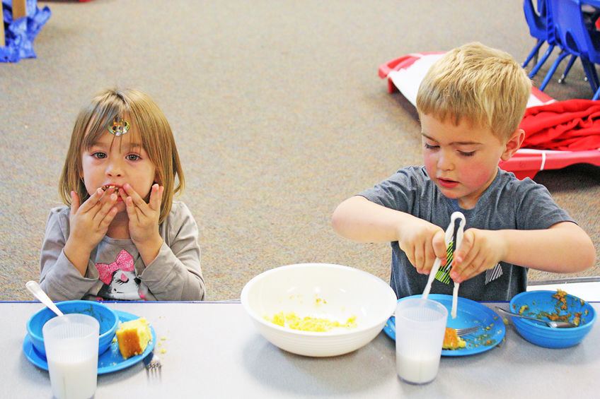Youngsters taste good nutrition