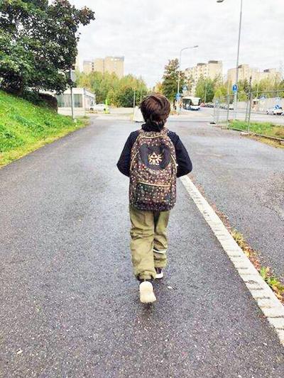 Walking to school in Finland