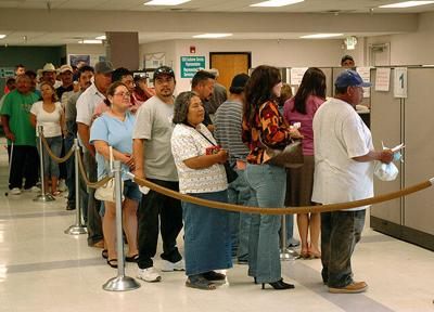 State processing record unemployment claims