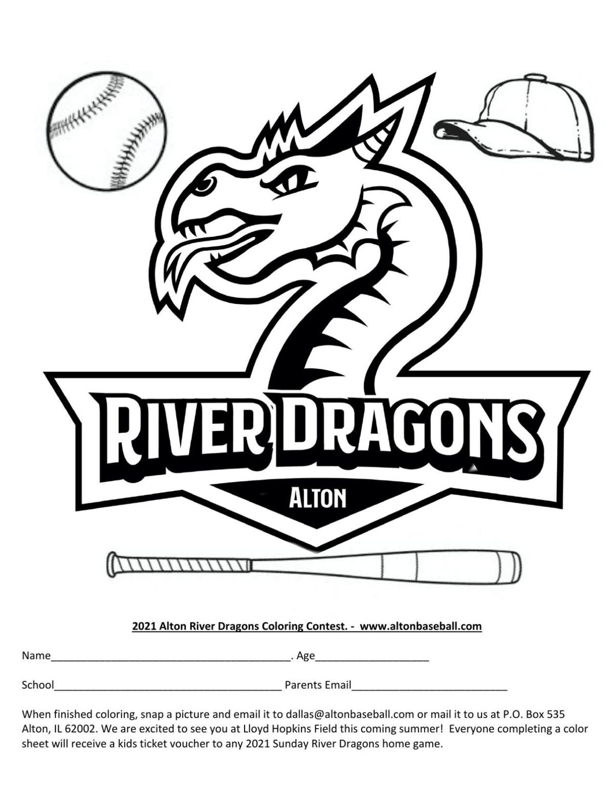 River Dragons coloring contest