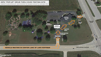 Drive-through COVID-19 testing will return to Godfrey
