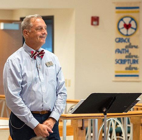 Zion Bethalto_Principal  Snyder in chapel.jpg